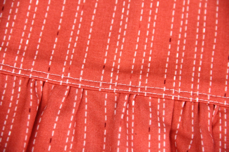 Reverse side of apron with secret pockets