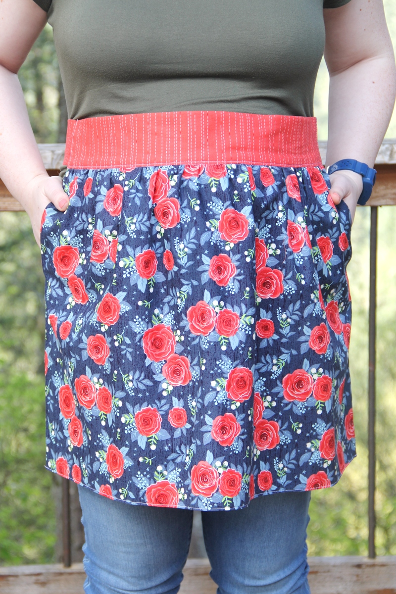 Apron with Secret Pockets from CraftyStaci