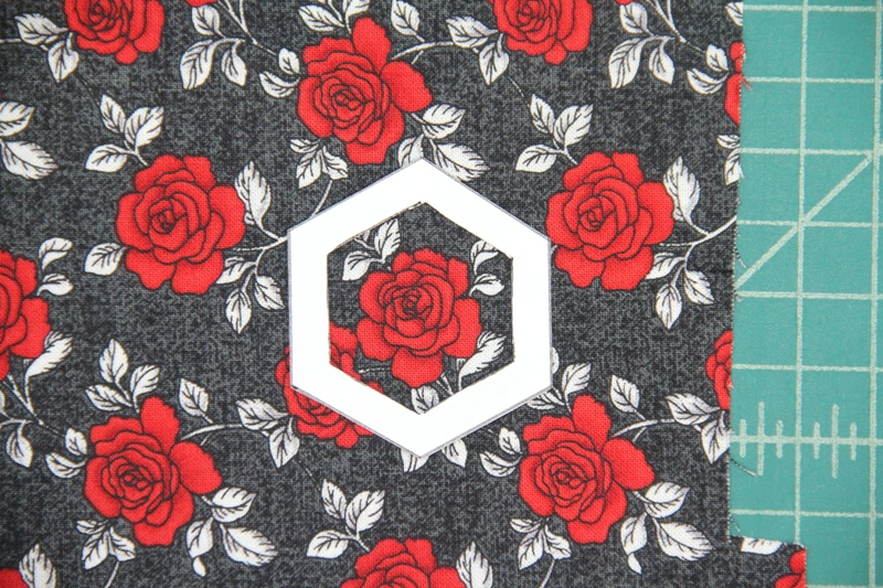 Red roses for fabric hexie earrings