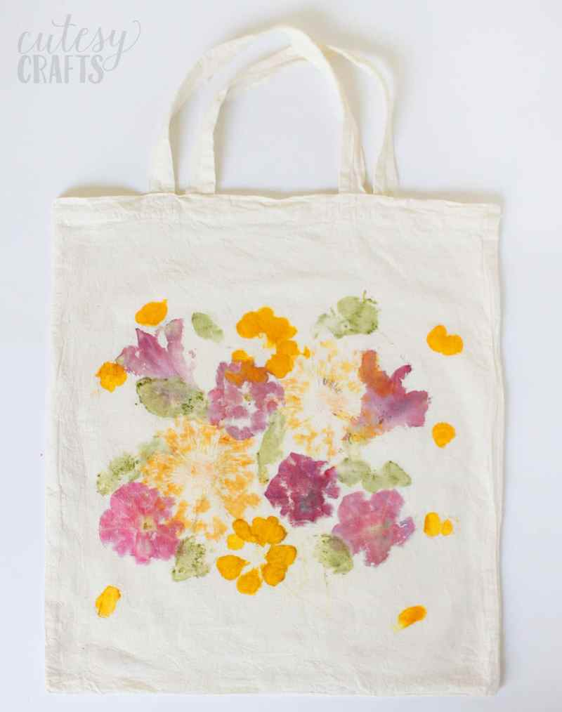 Pounded Flower Tote from DIY Candy