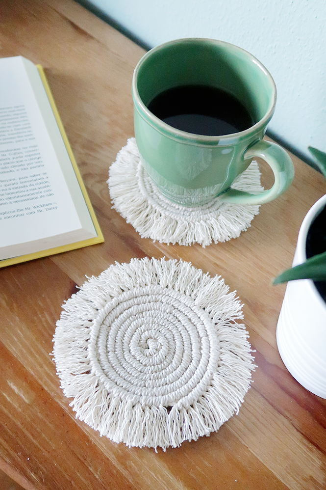 Round Macarame Boho Coasters from Curly Made
