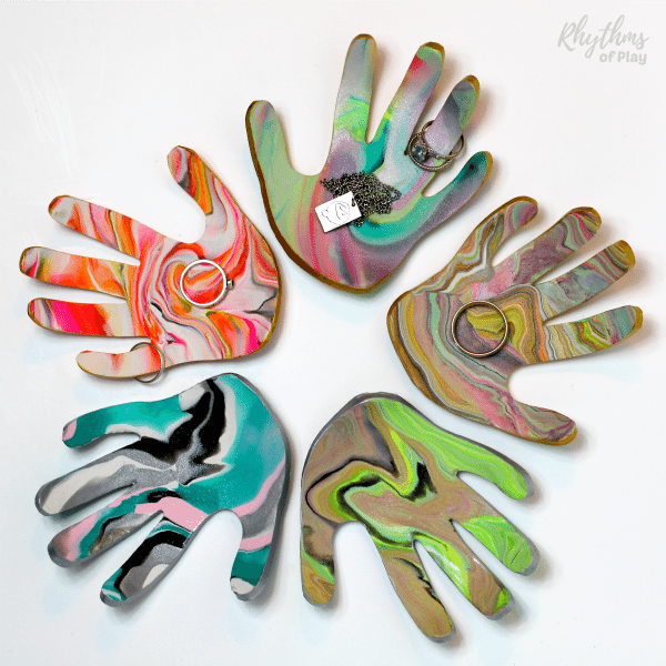Handprint Clay Jewelry Dish from Rhythms of Play