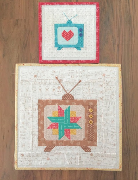 Vintage TV Quilt Blocks from Bee in my Bonnet