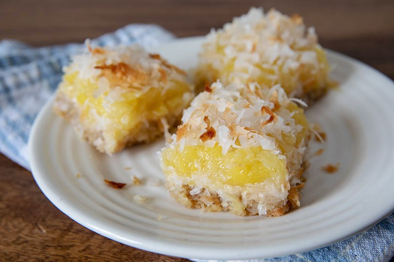 Pineapple Coconut Bar Cookies from Barbara Bakes