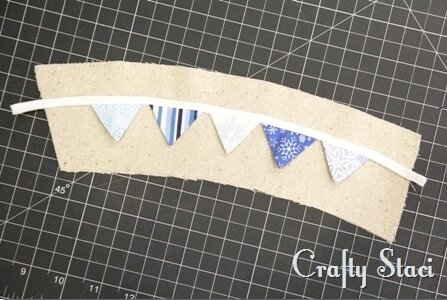 Coffee Sleeve of the Month - Pennant Banner - Crafty Staci 6