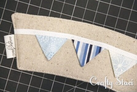 Coffee Sleeve of the Month - Pennant Banner - Crafty Staci 9