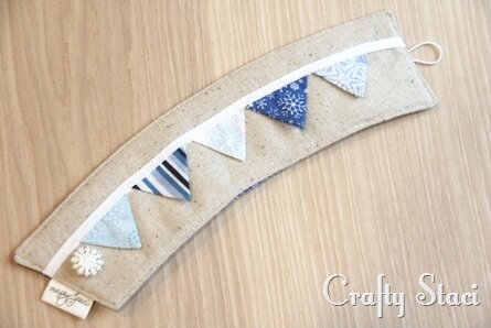 Coffee Sleeve of the Month - Pennant Banner - Crafty Staci 11