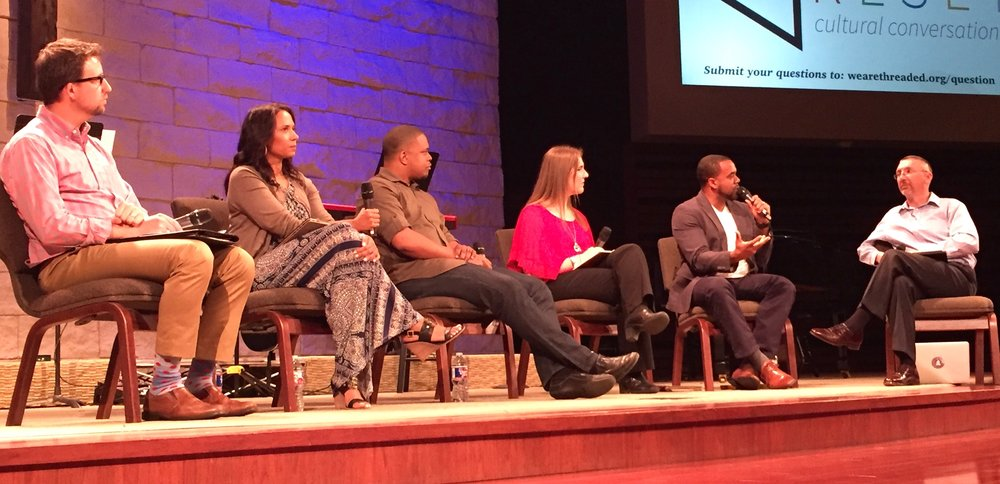 Diverse team at RESET: Cultural Conversations at Woodcreek Church on Sunday, April 23.