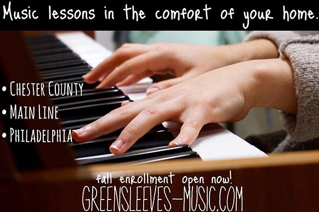We come to you!  #musiclessons #greensleevesmusic #chestercounty #mainlineparent #phillyfamily #westchesterpa #mainlinekids #phillykids #phillyburbs