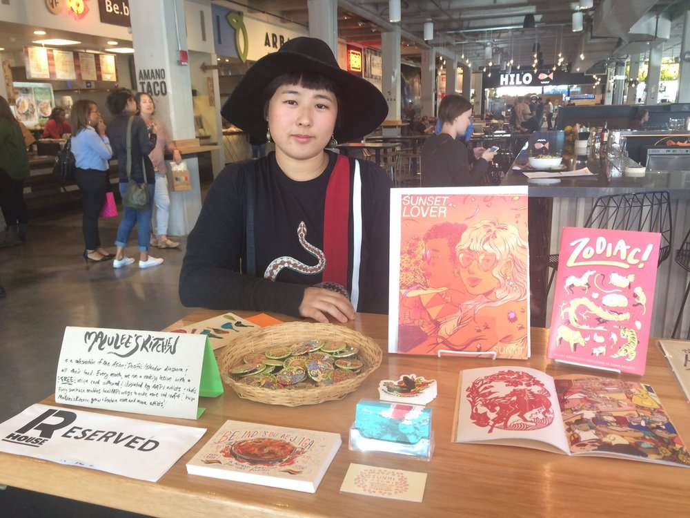 Sunmi, the intrepid illustrator for the budae jjigae recipe card!!