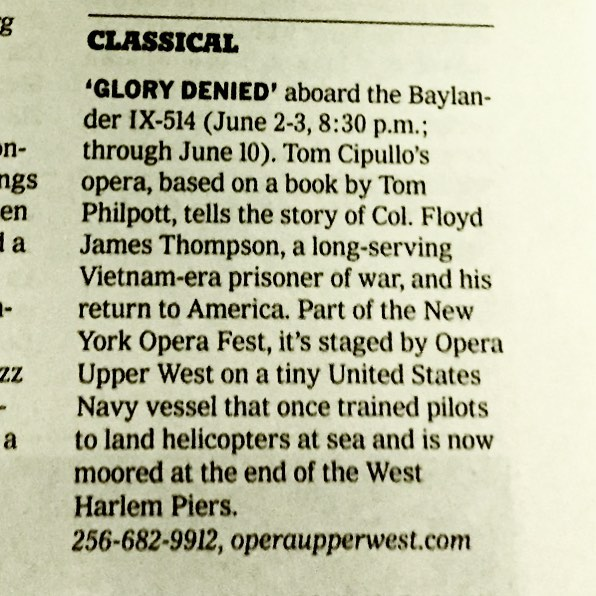 @nytimes recommends! Only 10 tickets left for #glorydenied this Saturday! See you on the 🚢 🙌