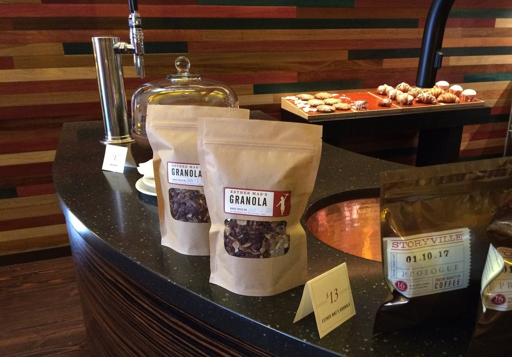 Don't forget to take home some freshly roasted coffee beans or house-made granola with you!