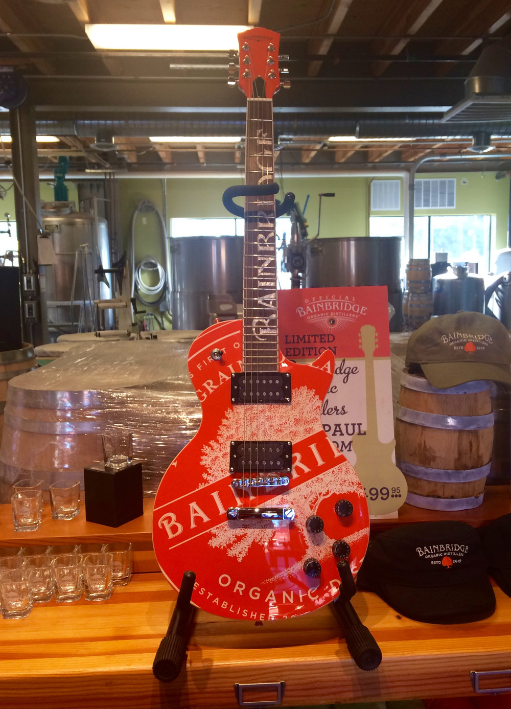 I don't think this amazing guitar is for sale but, if it is, my husband has probably already got dibs on it.