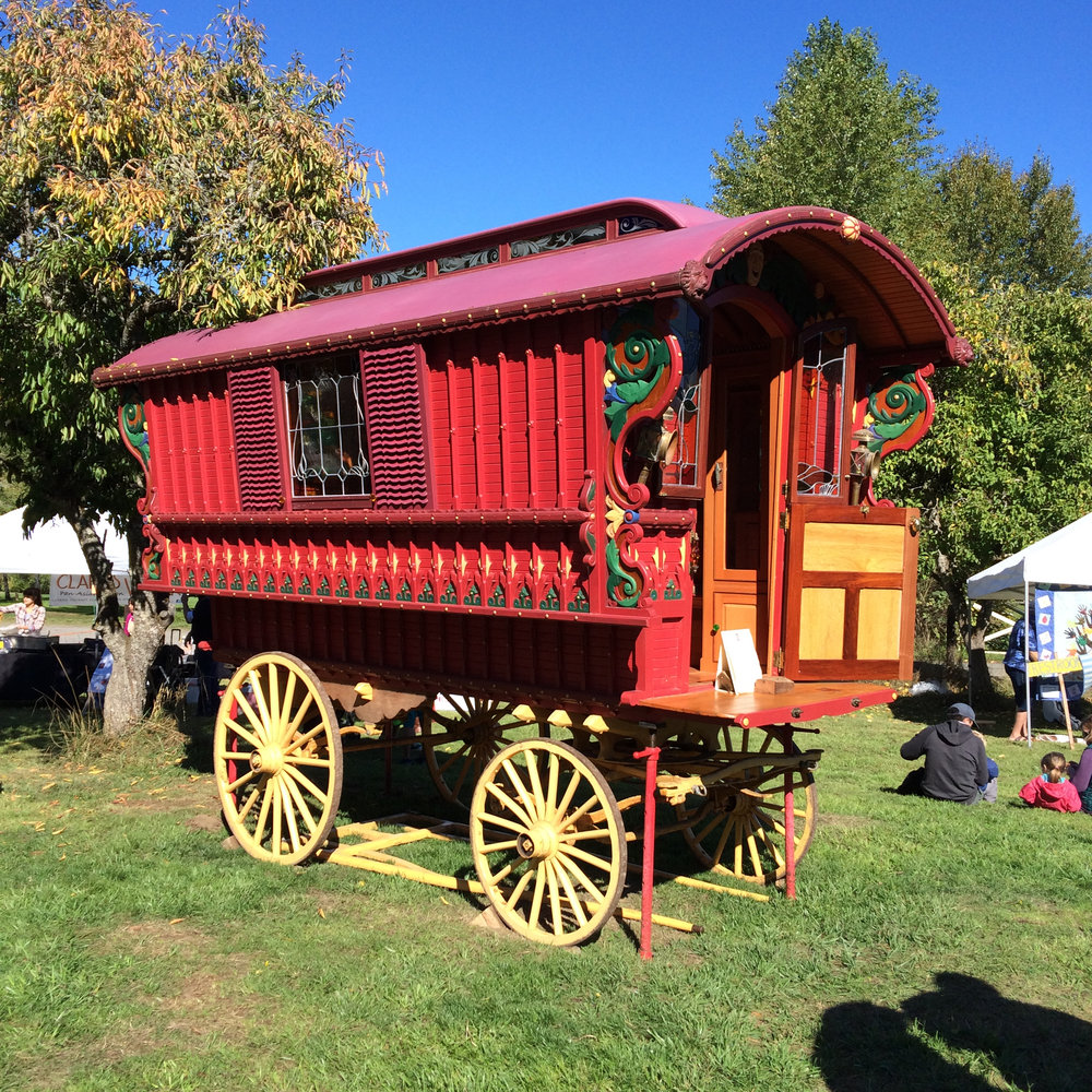 gypsy caravan at annual bainbridge island harvest fair