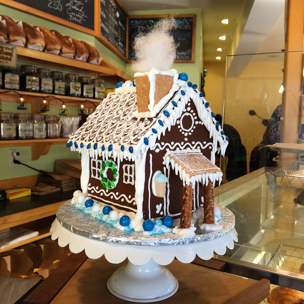 gingerbread house, blackbird bakery , BAINBRIDGE ISLAND
