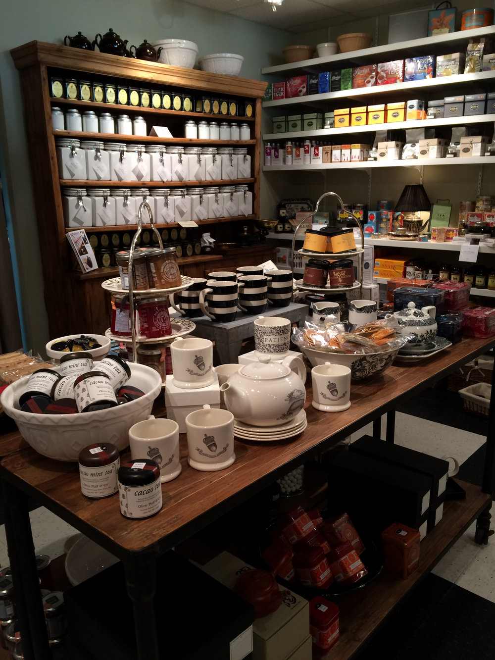 The tea corner is my favorite.I can never leave without a jar of honey or some new tea for the perfect cuppa.