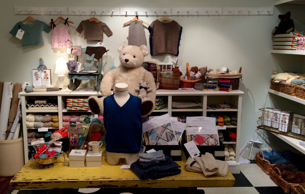 The baby stuff is the cutest! You can knit everything from blankets and sweaters to hats and stuffed animals for your wee one.