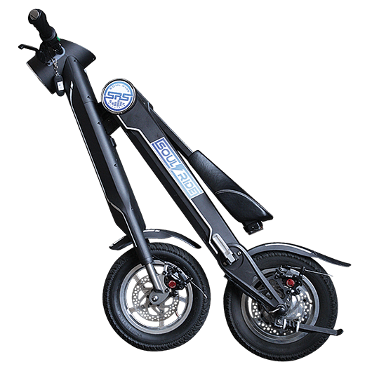 Electric Scooter Collapsed
