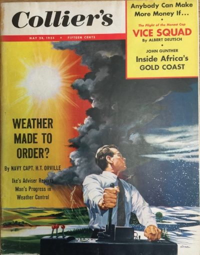 Drawing by Fritz Siebel,  Colliers,  May 28, 1954: front cover.