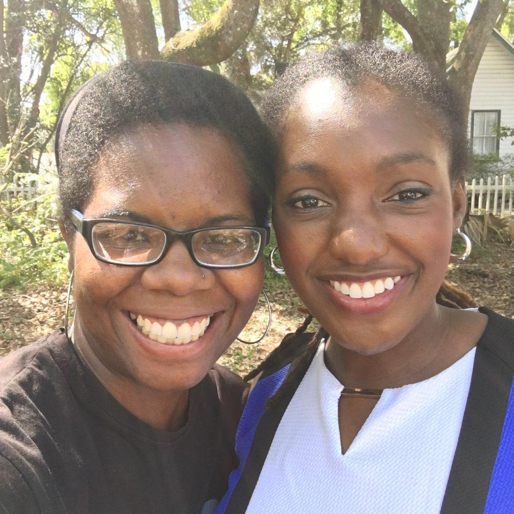 With Ama Kuma, author of  Nandi's Unexpected Gift