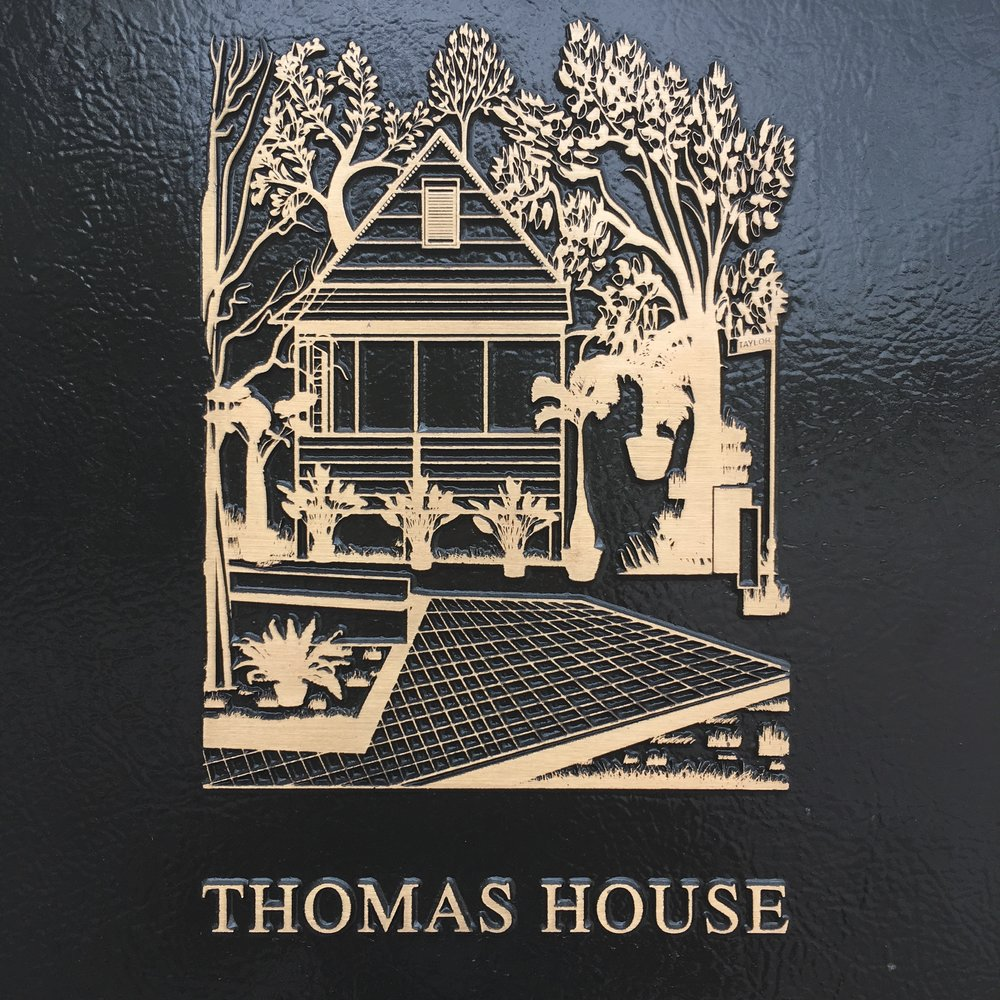Brass Carving of Historic Thomas House