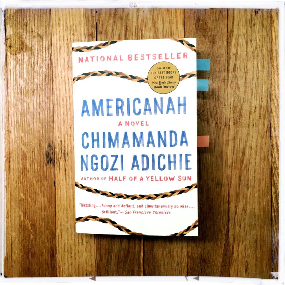 Americanah Book Cover Photographed by Black & Bookish.JPG