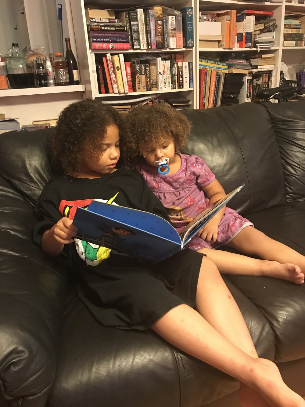 Astrid and Amelie Reading