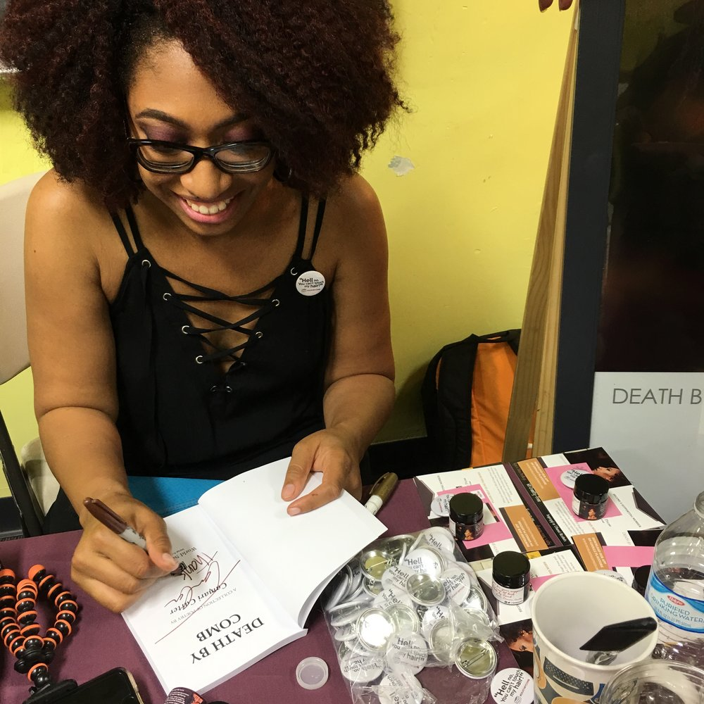 Author Camari Carter at her book signing party