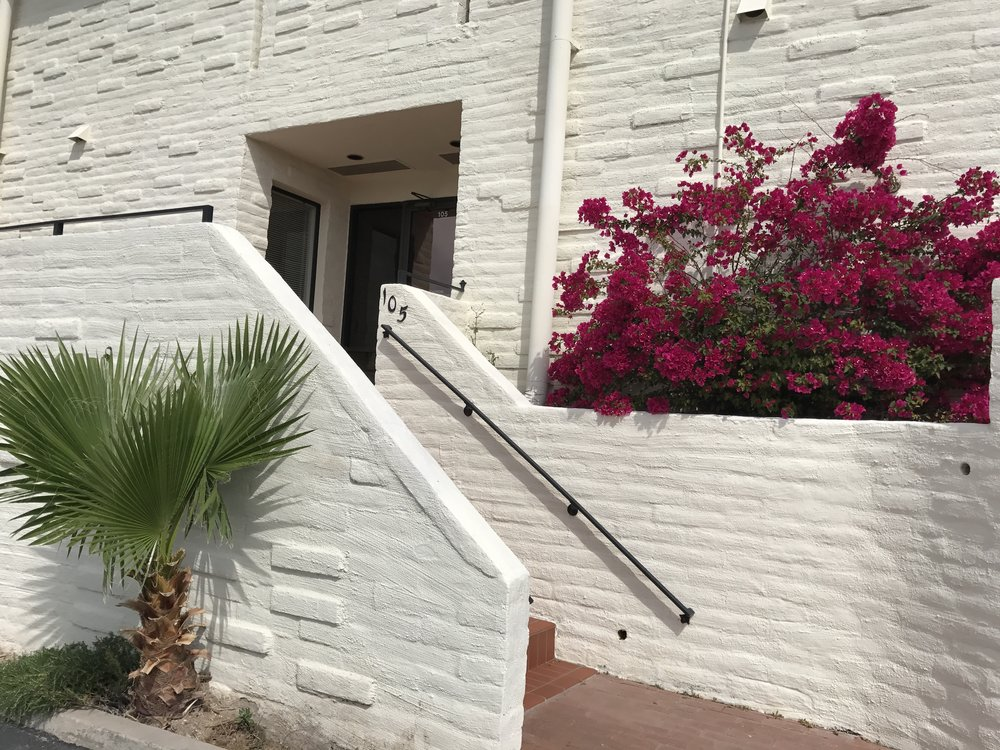 Stairs and front entrance of Tucson psychiatry office