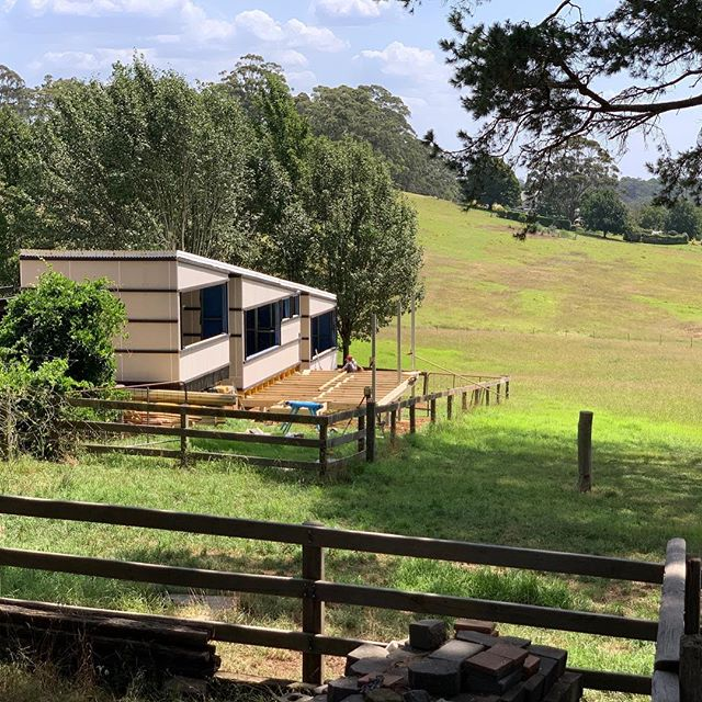 A couple days on and she is coming along nicely #modularhome #southernhighlands #prefab #quicksmart