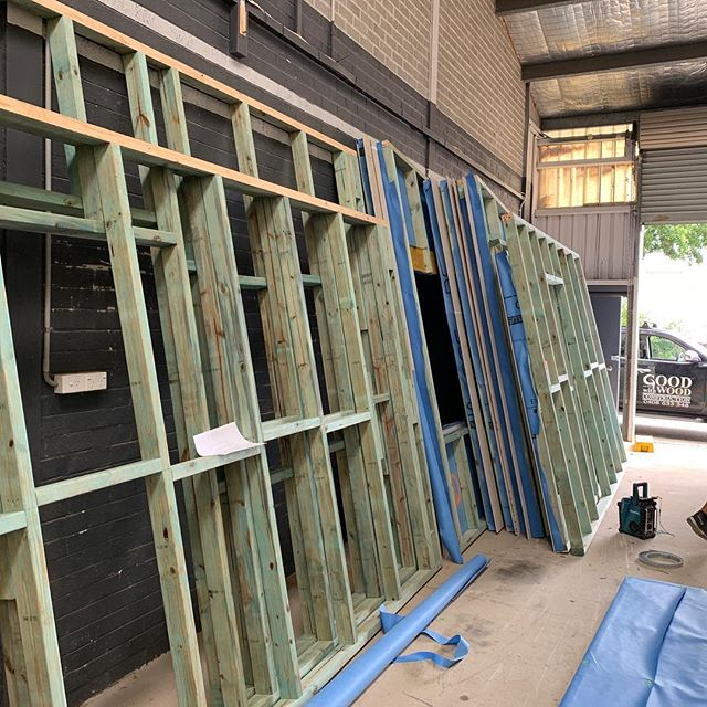 Our flat pack walls nearly ready for transportation to Avoca #southernhighlands #modularhome #wollongongbuilder #jointmodular #prefab