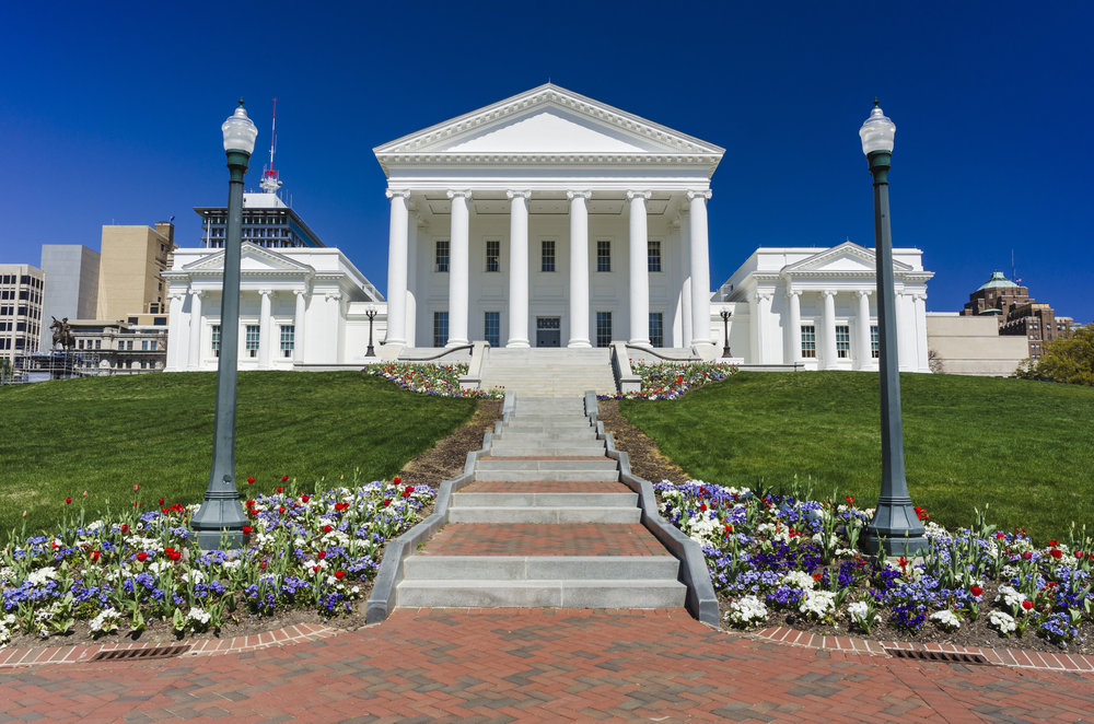 The virginia capitol where the general assembly meets