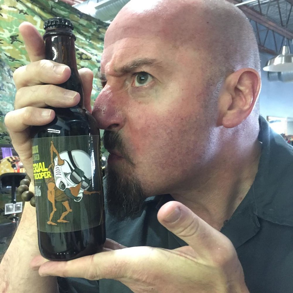 Craig and the most recent release of Barrel Aged Imperial Stout Trooper