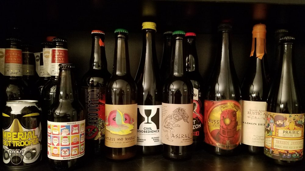 A pic of some of the beers in my stash