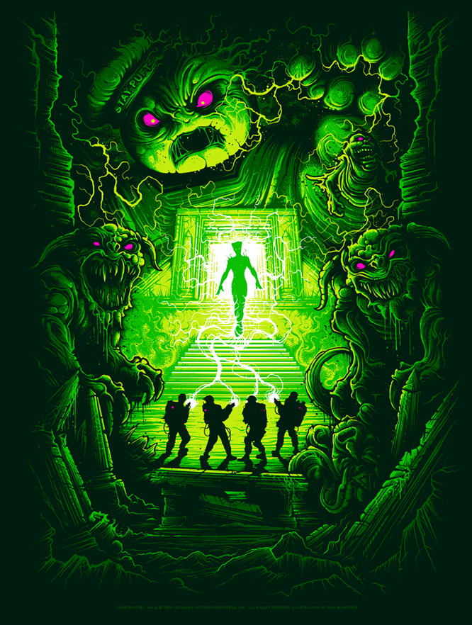 A Dan Mumford Original Ghostbusters print