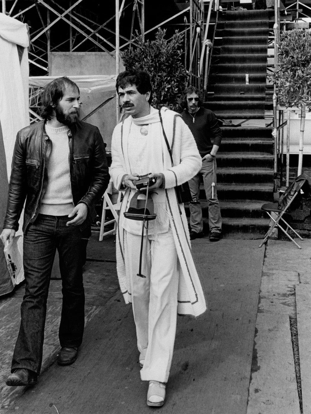 Arthur Rosato with Carlos Santana - 1975