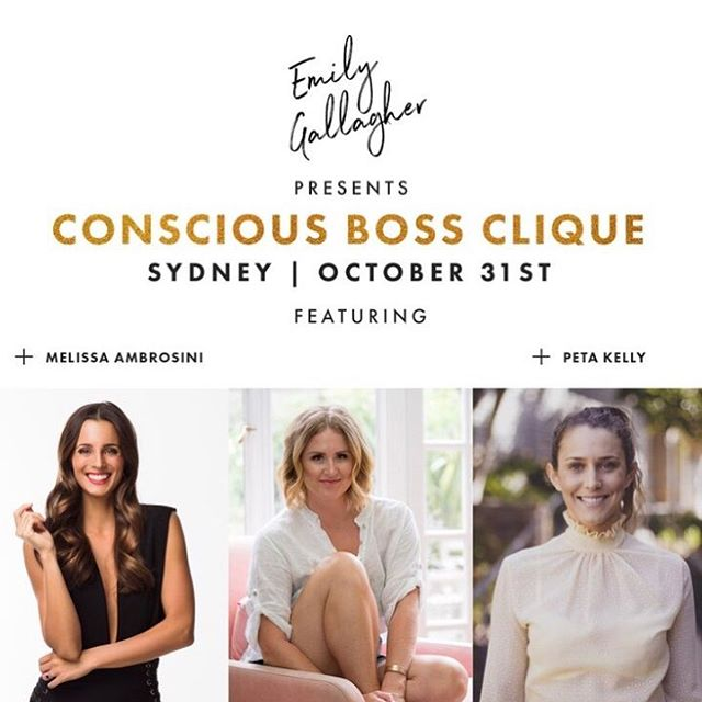 If you're : ✨ An established or aspiring entrepreneur ✨ Looking to connect deeply with a tribe of inspired peers ✨ Keen to reconnect and reinspire that flame you have inside ✨Wanting to leave the world a better place through how you show up ✨ In network marketing ✨ Just want an epic night of inspiration.. You'll want to be here ... for the first ever Sydney Conscious Boss Clique with these two Goddesses @melissaambrosini @petajean_ • Tickets are strictly limited and you can grab them through my bio ✨ Tag a babe you want to go with🔥