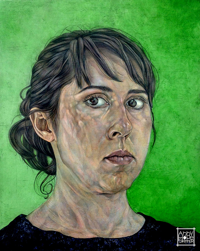 Self Portrait with Green Background