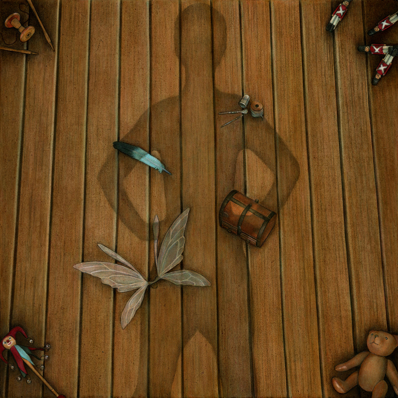 "Peter Pan | Acrylic on panel | 12x12"" | 2015"