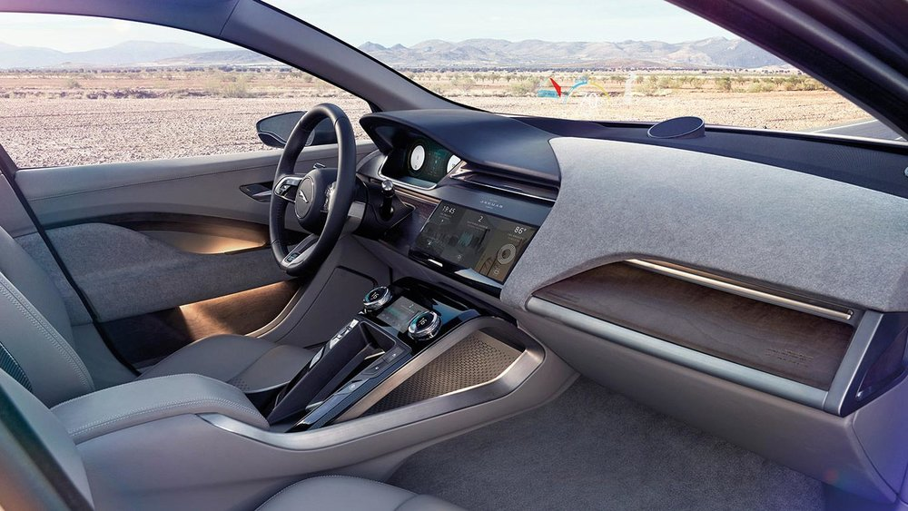 © Jaguar Modern Interior of the I-Pace