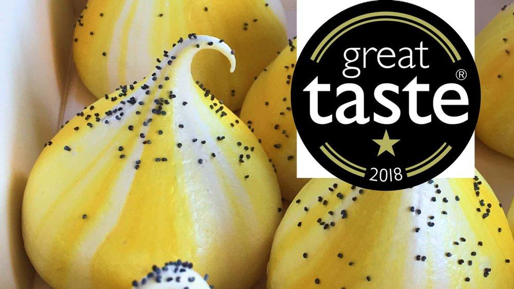 Lemon and Poppy Seed kiss Meringue a Tang Great Taste 2018
