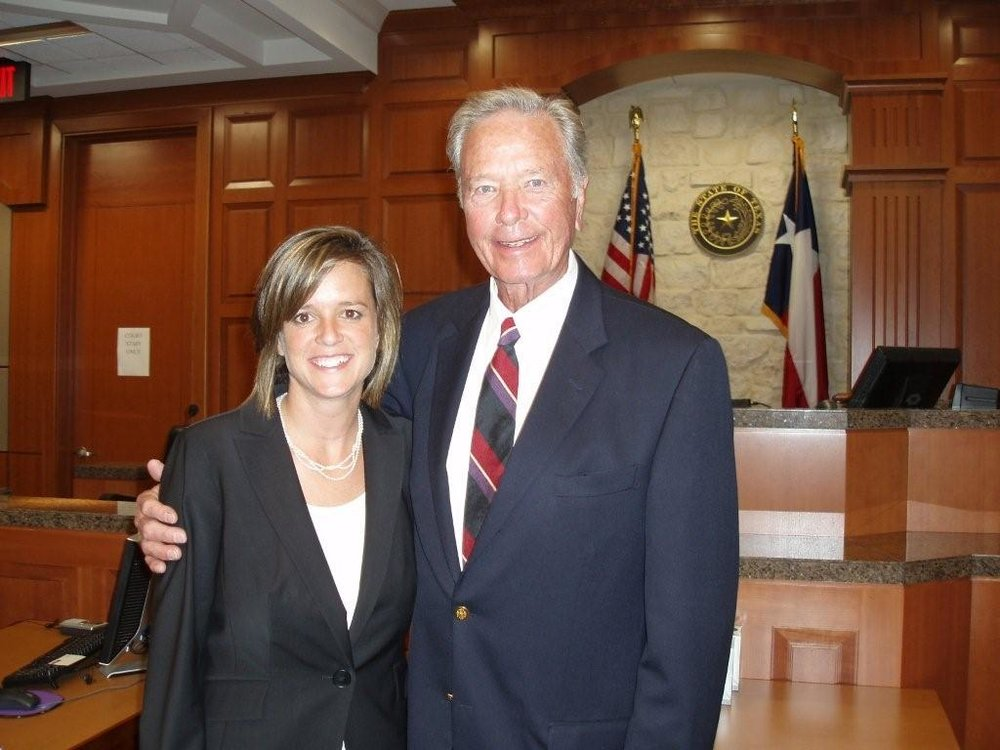 Ann and her father, the late Hon. Jake Johnson, while in practice at Johnson Law Firm PC