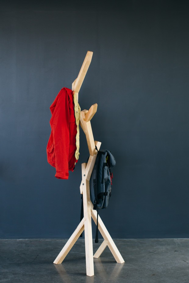 Housefish Arbor Coat Rack, Maple