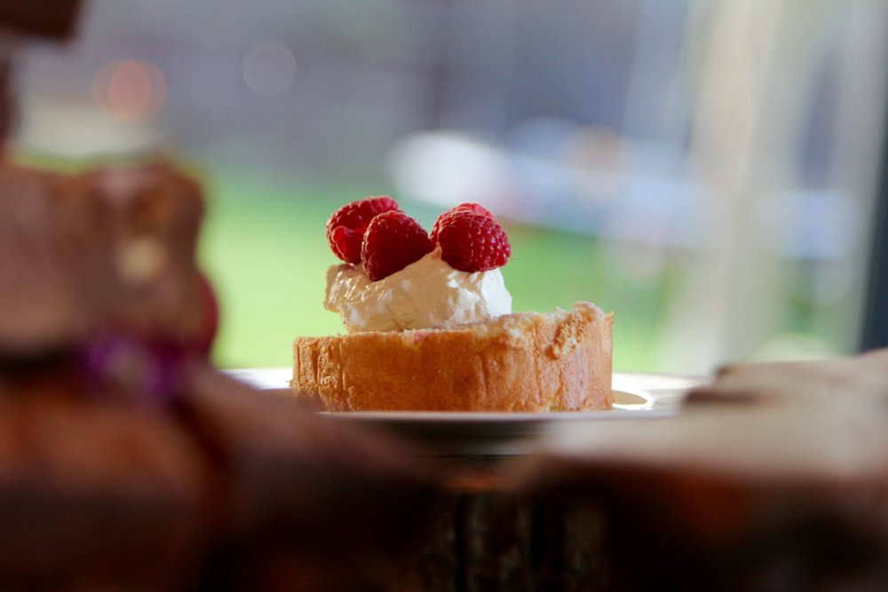 White Chocolate and Raspberry Roulade