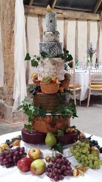 Amazing cheese and pork pie tower. Wedding Cheese Cake