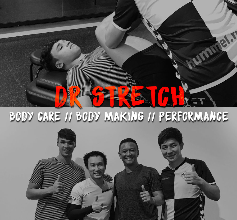 Dr Stretch at The Arena  Dr.stretch specialises in partner assisted stretching, we help to ease muscle tightness, tension, aches and to help improve your posture, flexibility and to promote good blood flow. We are able to stretch areas that cannot be targeted by self-stretches.    Grand Opening on 17th Nov!     TEL.91278414