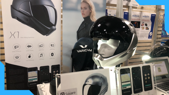 CrossHelmet : Another client of ours and their Kickstarter ended at $344,336 and is now currently taking pre-orders from their website.  We tried on the helmet and it was very cool, not that we are bikers but seeing your speed and being able to take and receive calls was pretty impressive!  The CrossHelmet is a next-generation motorcycle helmet with an integrated head-up display with 360° range of vision, sound management, and Bluetooth features to riders. It is the smartest motorcycle helmet ever.