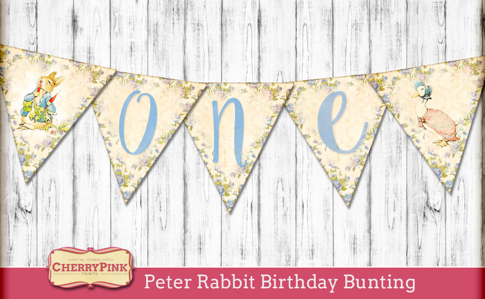 Peter Rabbit Birthday Bunting