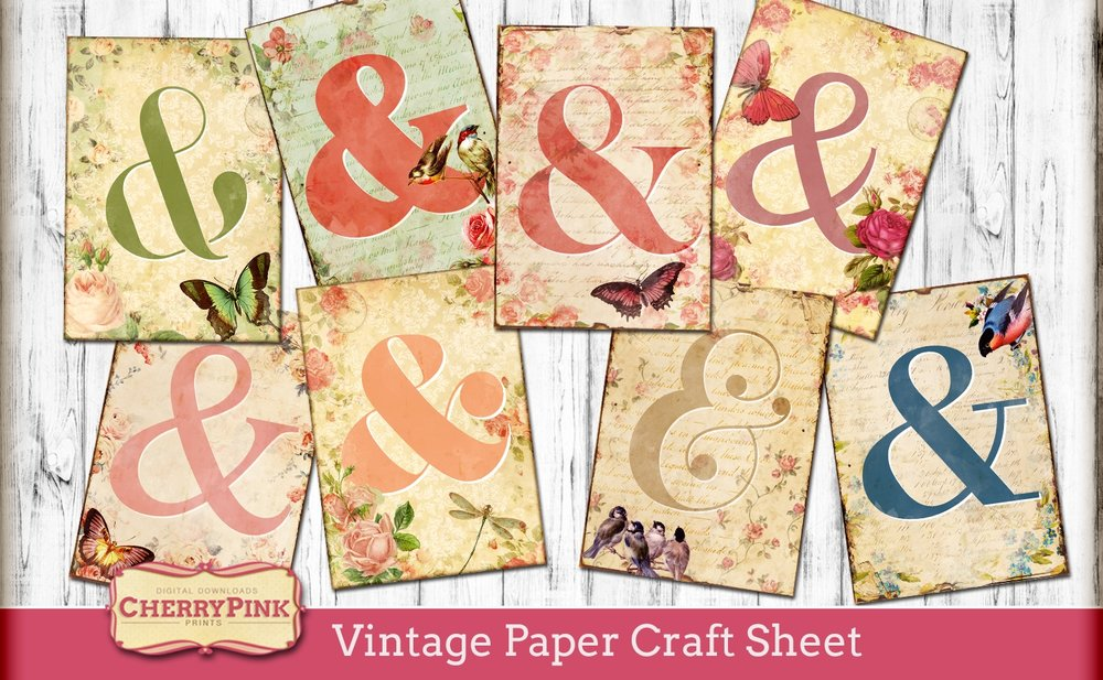 Vintage Paper Craft sheet