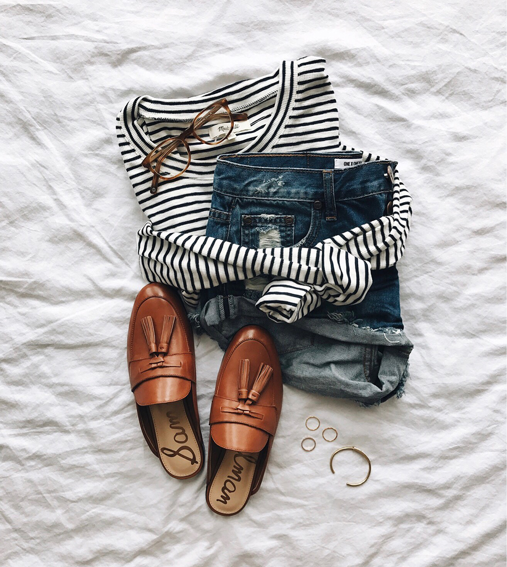 livvyland-blog-olivia-watson-instagram-roundup-livvylandblog-cozy-chic-boho-outfit-idea-loafer-slides-one-teaspoon-bandit-shorts-striped-top.jpg